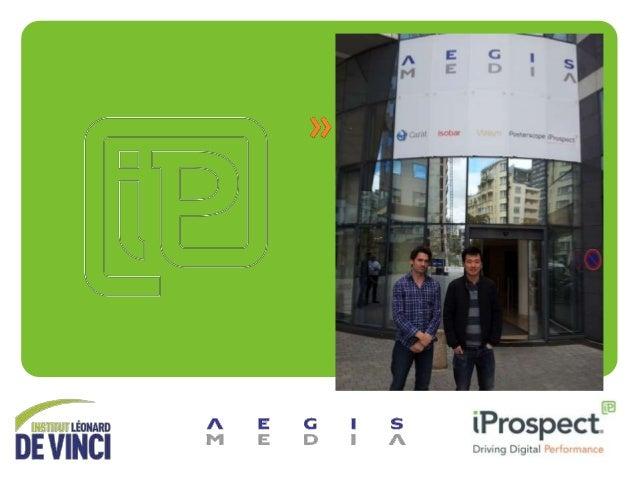 AGENDA • PRESENATION DE L'ENTREPRISE – AEGIS MEDIA – iProspect  • PRESENTATION DES MISSIONS DE JONATHAN  2