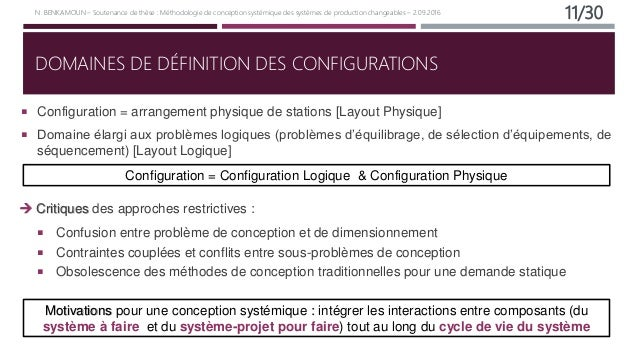 Soutenance de th se doctorale m thodologie de conception syst mique - Definition de conception ...