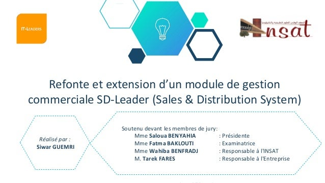 Refonte et extension d'un module de gestion commerciale SD-Leader (Sales & Distribution System) Réalisé par : Siwar GUEMRI...