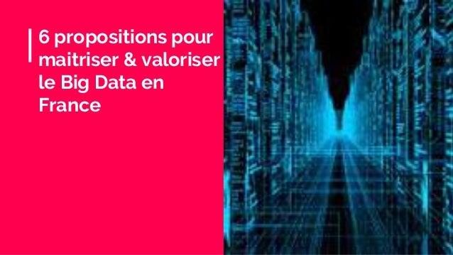 6 propositions pour maitriser & valoriser le Big Data en France