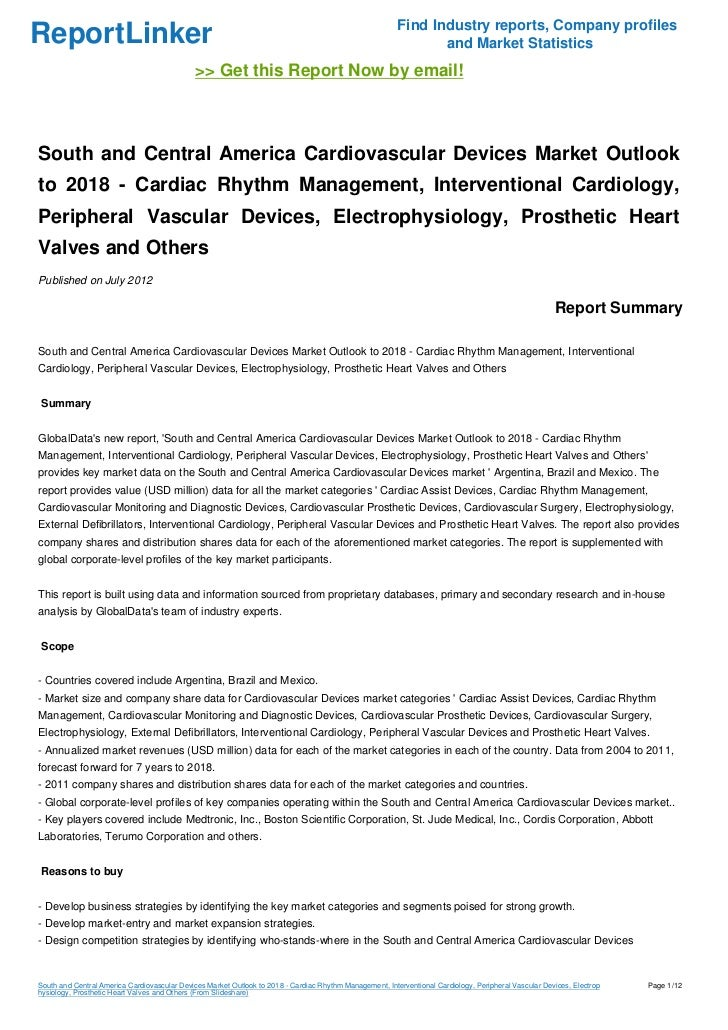 South and Central America Cardiovascular Devices Market