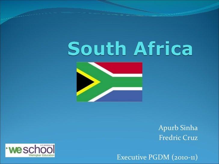 Apurb Sinha Fredric Cruz Executive PGDM (2010-11)