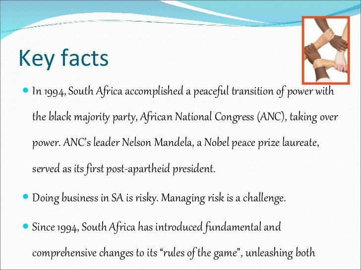 an analysis of south africas first post apartheid president Here are some of the key dates of his presidency – 2009: first zulu president – as the leader of the majority african national congress, zuma is elected president by parliament on may 6, 2009 after the party's victory at general elections south africa's first zulu president, he is sworn in three days later.
