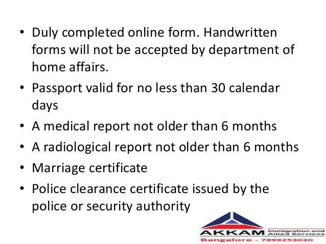 South Africa Critical Skill Visappt