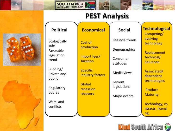pest analysis south africa 2013 Access the latest politics analysis and economic growth summary through 2011 for south africa from the economist intelligence unit.