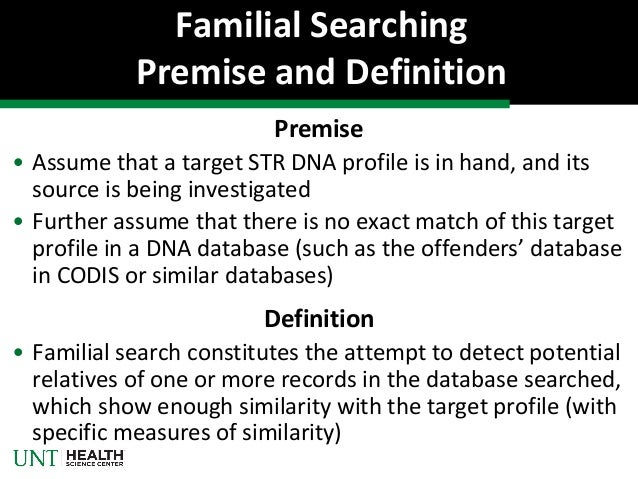Superior Familial Searching Premise And Definition ...