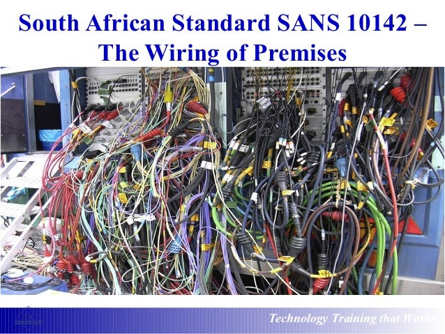 south african standard sans 10142 the wiring of premises rh slideshare net south african wiring standards Standard Cable and Wire