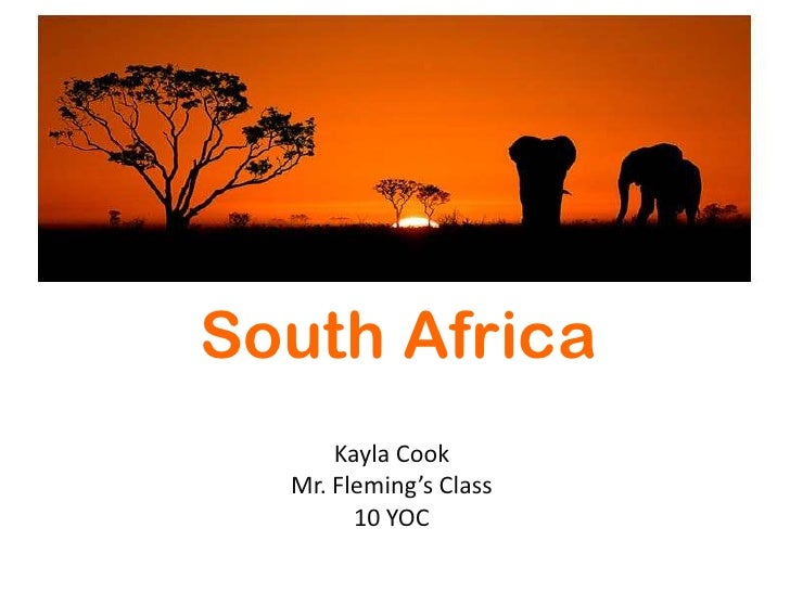 south africa power point, Modern powerpoint
