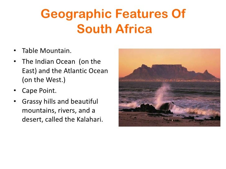 South africa power point br 3 geographic features of south africabr toneelgroepblik Image collections