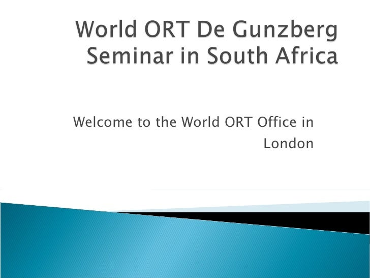 Welcome to the World ORT Office in London