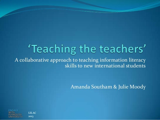 A collaborative approach to teaching information literacy                      skills to new international students       ...