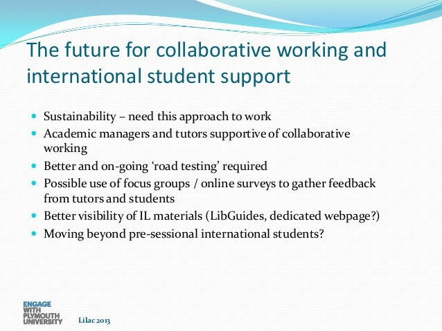 Collaborative Teaching Questionnaire ~ Southam moody international students a collaborative
