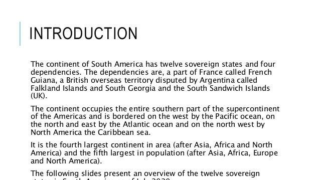 South America 2020 Slide 3