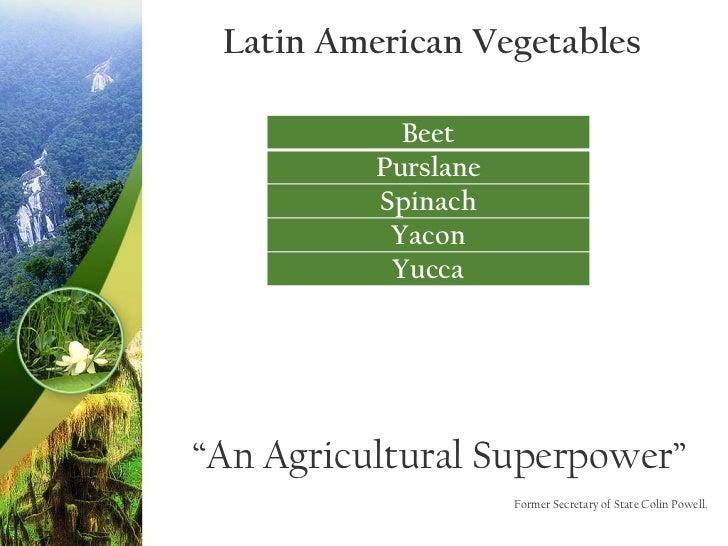 Latin American Series: Vegetables