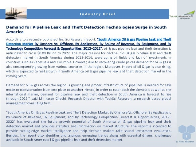 South America Oil & Gas Pipeline Leak and Theft Detection