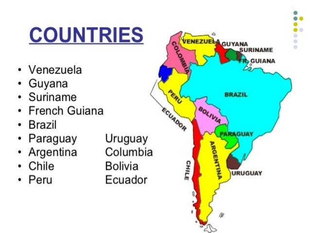 French guiana location on the south america map