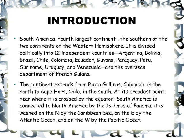 Latin America Project