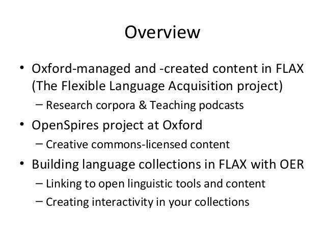 FLAX Weaving with Oxford Open Educational Resources: Open Practices for English Language Teaching Slide 2