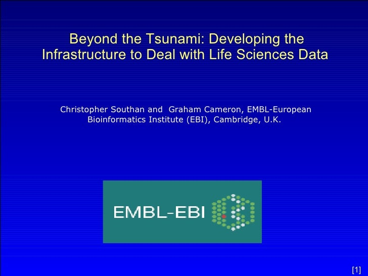 Beyond the Tsunami: Developing the Infrastructure to Deal with Life Sciences Data   Christopher Southan and  Graham Camero...