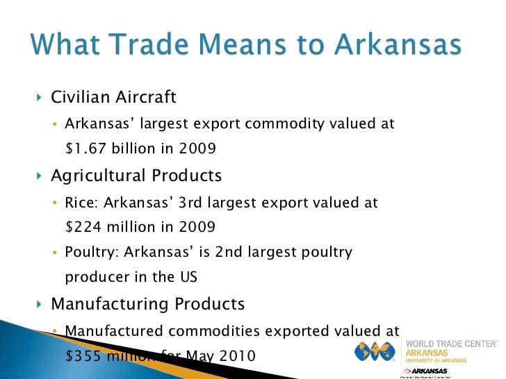 <ul><li>Civilian Aircraft </li></ul><ul><ul><li>Arkansas' largest export commodity valued at  </li></ul></ul><ul><ul><li>$...