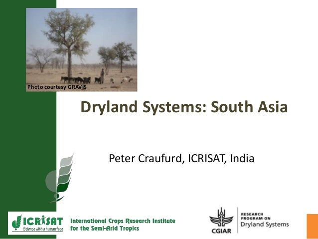 Dryland Systems: South AsiaPeter Craufurd, ICRISAT, IndiaPhoto courtesy GRAVIS
