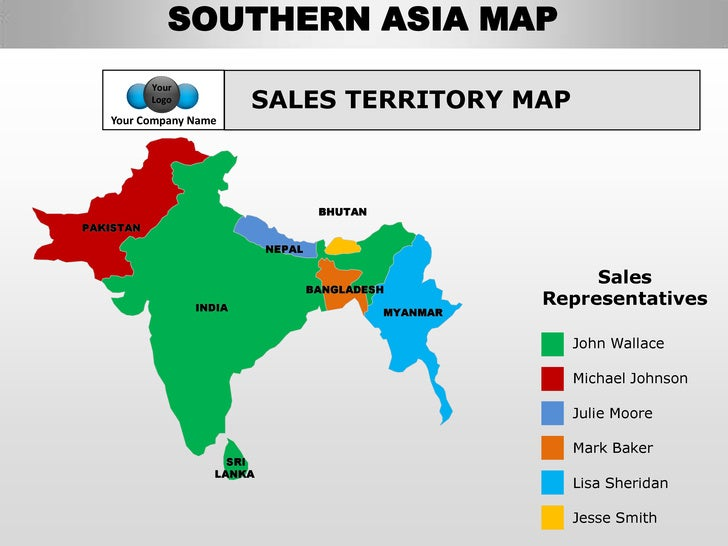 countries can be colored and edited separately 60 southern asia map