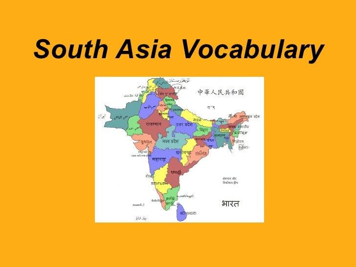 South Asia Vocabulary