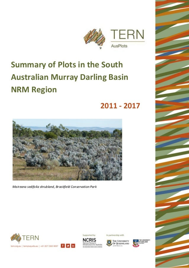 Maireana sedifolia shrubland, Brookfield Conservation Park Summary of Plots in the South Australian Murray Darling Basin N...