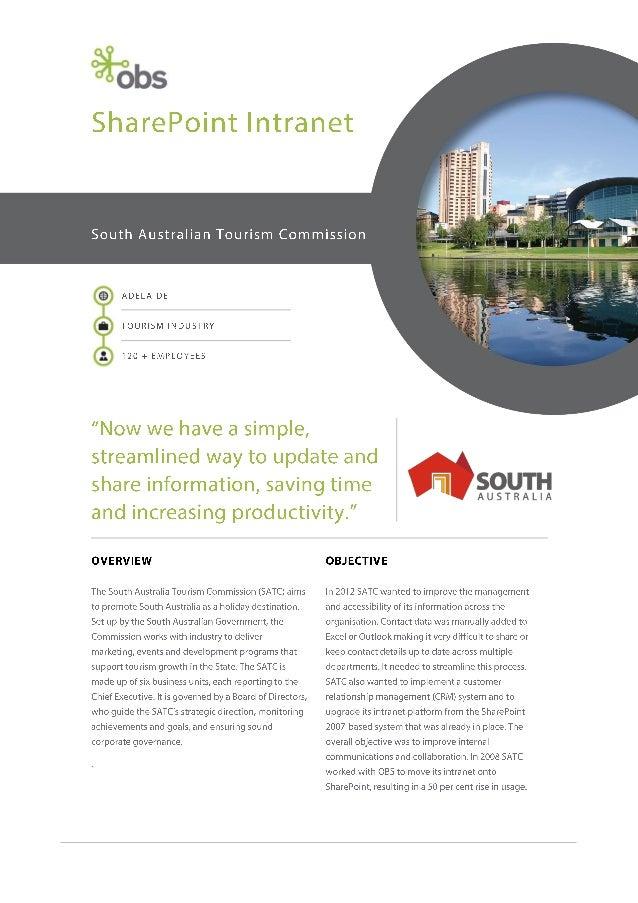 South Australian Tourism Commission (SATC) Case Study
