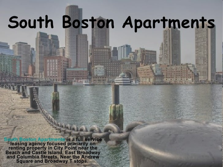South Boston Apartments South Boston Apartments  is a full service leasing agency focused primarily on renting property in...