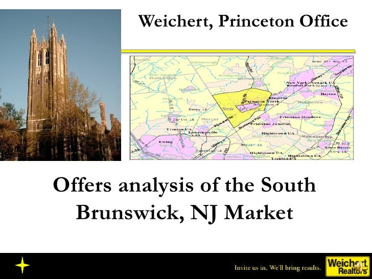 Weichert, Princeton Office Offers analysis of the South Brunswick, NJ Market