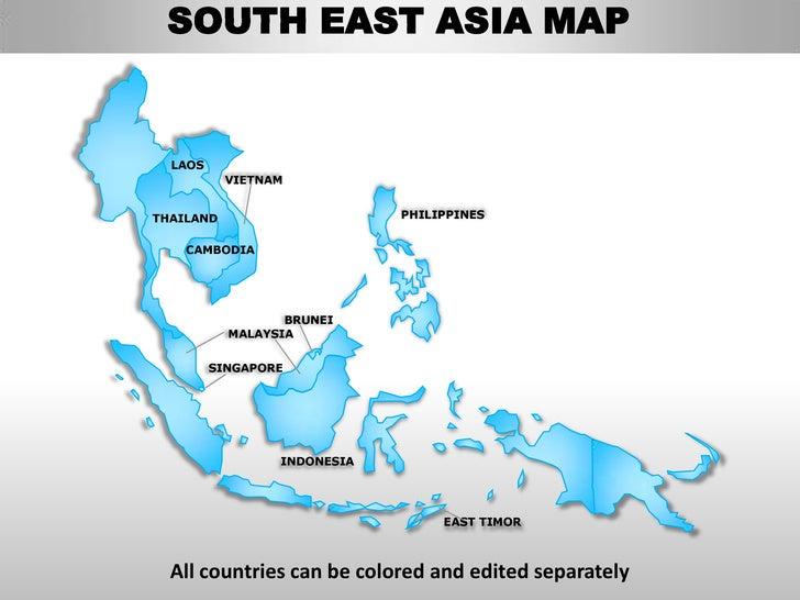 Editable Map Of Southeast Us