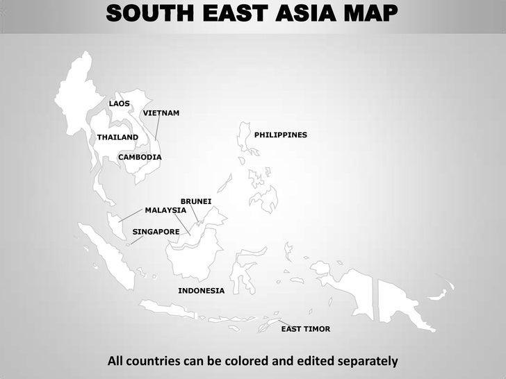 south east asia map laos vietnamthailand philippines cambodia brunei ...