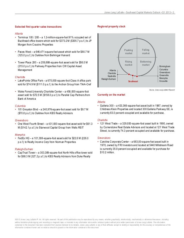 Southeast Capital Markets Outlook Q1 2013 Final