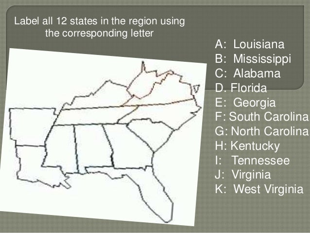 Geography of the Southeast Region Study Guide - SlideShare