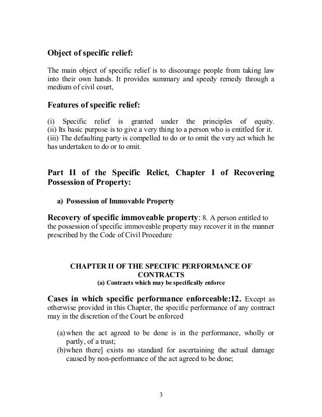 section 42 of specific relief act