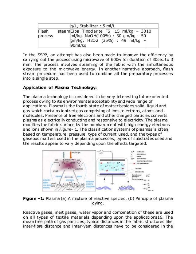 g/L, Stabilizer : 5 ml/L Flash steam process Ciba Tinoclarite FS :15 ml/kg – 30 ml/kg, NaOH(100%) : 30 gm/kg – 50 gm/kg, H...
