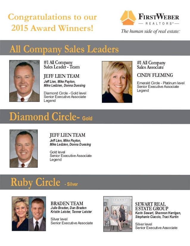 Ruby Circle - Silver #1 All Company Sales Leader - Team JEFF LIEN TEAM Jeff Lien, Mike Payton, Mike Ledzien, Donna Duesing...