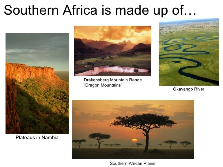geography of south africa Geography of south africa: read this article to learn about south africa - the southernmost nation on the african continent learn about south africa's history, government, economy, geography, climate and biodiversity learn important information about south africa from geography at aboutcom.