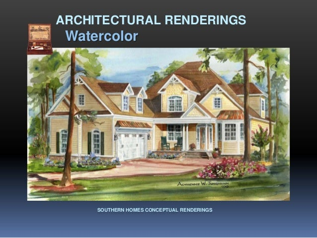 ARCHITECTURAL RENDERINGS Watercolor     SOUTHERN HOMES CONCEPTUAL RENDERINGS
