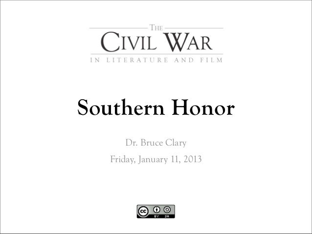 Southern Honor      Dr. Bruce Clary  Friday, January 11, 2013