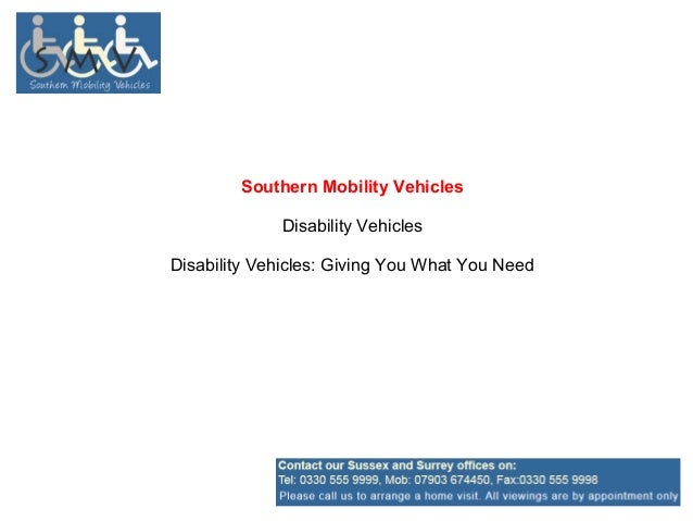 Southern Mobility Vehicles             Disability VehiclesDisability Vehicles: Giving You What You Need