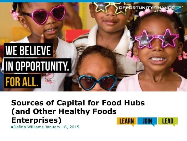 Southern SAWG - Food Hub Financing