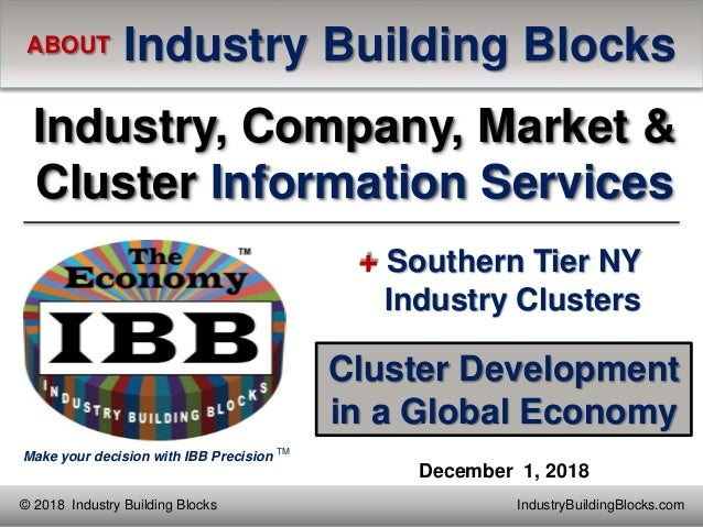 Make your decision with IBB Precision TM IndustryBuildingBlocks.com© 2018 Industry Building Blocks ABOUT Industry Building...