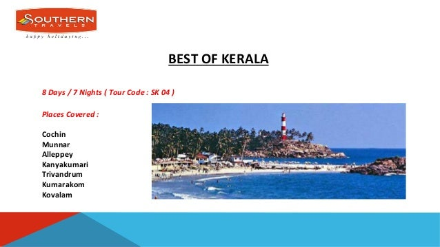 Kerala Tour Packages Southern Travels