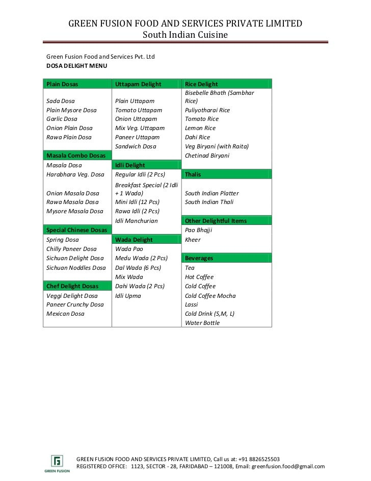 Tamilnadu wedding catering menu