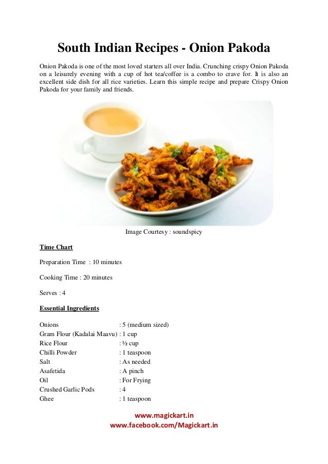 SOUTH INDIAN RECIPES IN ENGLISH PDF