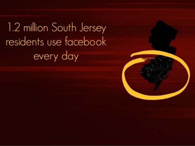 1.2 million South Jersey residents use fdcebook every day
