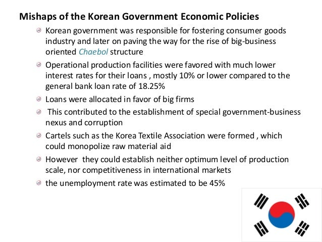 a study on the korean chaebols and their contribution to the economy Family feud: succession tournaments and risk-taking in korean chaebols † jongsub lee, hojong shin, and hayong yun  † we thank for the many helpful comments from participants of the workshop at the korea capital market institute symposium, korea university, michigan state university, skk gsb, and the university of florida.