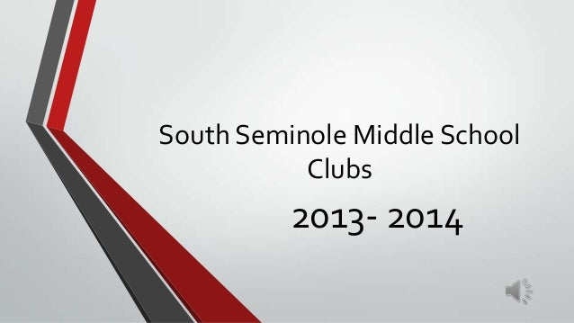 South Seminole Middle School Clubs 2013- 2014